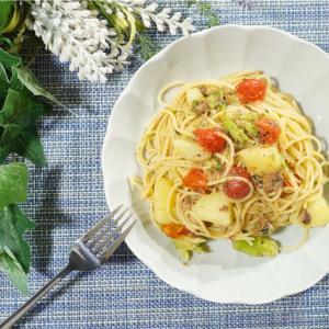 フライパンなしで簡単美味しい!鯖缶といろいろ野菜のパスタの作り方・レシピ