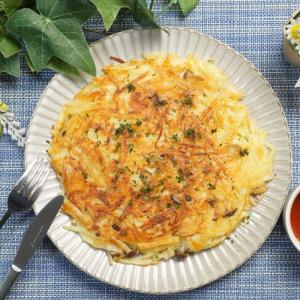 外はカリカリ中はホクホク!しめじとじゃがいものチーズガレットの作り方・レシピ