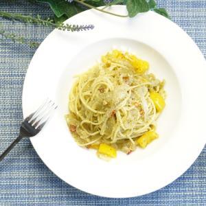 大葉香る!パプリカと玉ねぎの大葉ジェノベーゼパスタの作り方・レシピ