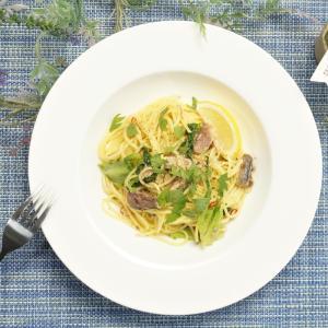 手軽に作れる和風パスタ!鯖缶とレタスの和風レモンパスタの作り方・レシピ