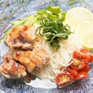 さっぱりした食べ応え!鶏肉とトマトの旨塩レモンそうめんの作り方・レシピ