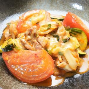 こってり旨辛!夏野菜のスタミナ豚キムチーズの作り方・レシピ