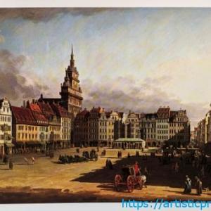 ベルナルド・ベッロット「ドレスデンのアルトマルクト広場の眺め」