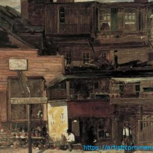 ルイス・カンフォート・ティファニー作「ニューヨーク・デュアン通り」|東京都美術館 「ニューヨークを生きたアーティストたち」展より