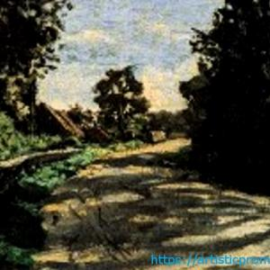 日常の風景が美術作品に!クロード・モネ作「サン=シメオン農場の道」|ブリジストン美術館「モネ展」より