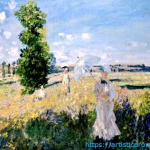 自然の美しさを感じながら心をリフレッシュ!クロード・モネ作「散歩」|ブリジストン美術館「モネ展」より