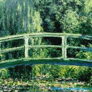 まるで緑の宝石!クロード・モネ作「睡蓮の池と日本の橋」|ブリジストン美術館「モネ展」より