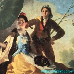 幸せそうな男女を描いた!ゴヤ、フランシスコ・デ作「日傘」|国立西洋美術館「スペイン王室コレクションの美と栄光 プラド美術館展」より