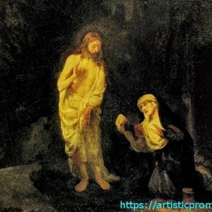 レンブラント作品なの?レンブラント・ファン・レイン作「マグダラのマリアの前に現れるキリスト」|国立西洋美術館「レンブラントとレンブラント派-聖書、神話、物語」展より