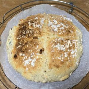 べキングパウダーでパン焼き