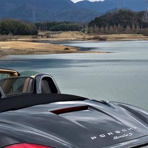 日野川ダムでボクスター