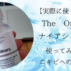 【The Ordinary】ナイアシンアミドを実際1瓶使ってみた。レビュー!