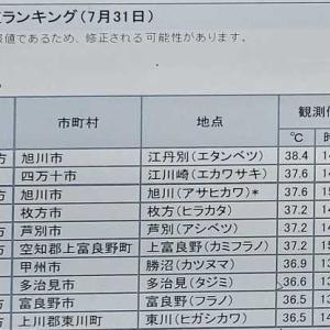 まさかの江丹別が国内最高気温