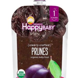 赤ちゃんはいつからプルーンを食べられる?便秘解消におすすめな、HappyFamilyOrganicsのプルーンピューレを使ってみました