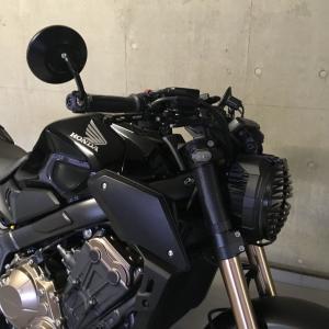 CB650R レバー交換でブラック化!!