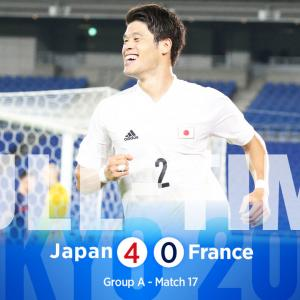U-24日本代表三連勝でGL突破決定!