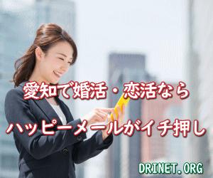 愛知の婚活恋活に最適 優良人気出会い系サイトはハッピーメール