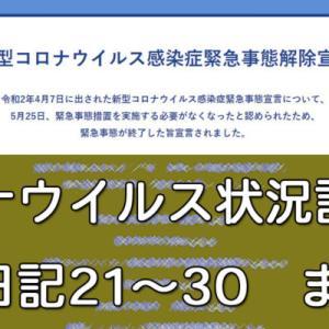 コロナウイルス状況記録のプチ日記21~30 まとめ