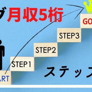 【ブログ初心者向け】ブログで月収5桁を突破するのに必要なステップ!