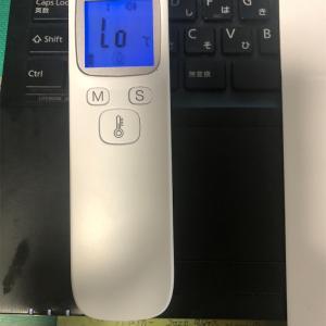 非接触型体温計買った!