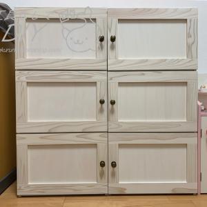 カラーボックス にDIYで扉を付けて、おしゃれな収納家具に大変身!