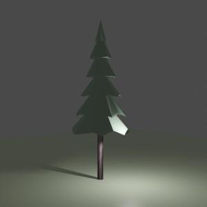 【Blender2.8】ローポリの木を作る