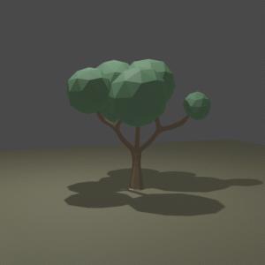 【Blender2.8】ローポリの木を作る 広葉樹編