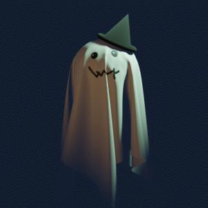 【Blender2.8】ハロウィンにむけてゴーストを作ろう!