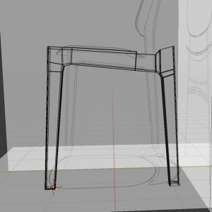【Blender2.8】椅子のモデリング Part2/9