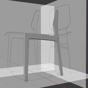 【Blender2.8】椅子のモデリング Part3/9