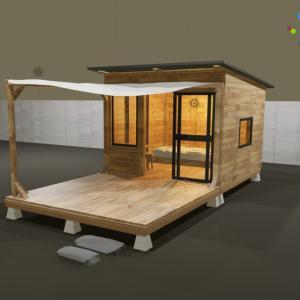 最近タイニーハウスにハマっているので3Dで作ってみた
