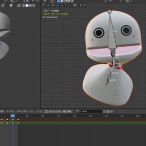 【Blender2.9】ボーンを入れたモデルにアニメーションをつけてみる