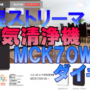 家電 空気清浄機(加湿ストリーマ) MCK70W ダイキン