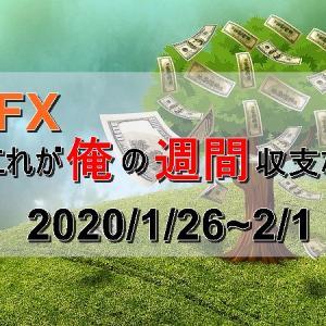 【FX週間収支】2020/1/26~2/1