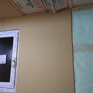 家が出来るまでの振り返り⑦石膏ボードが貼られていました