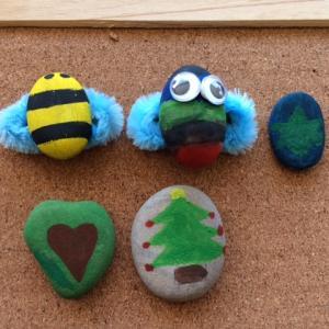 子供の簡単工作|石のアートを手作りしちゃおう