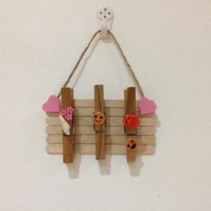 アイスの棒で子供と工作!簡単なクリップボードの作り方