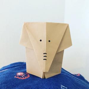 折り紙で立体的なぞうの折り方 顔を描いて可愛くしよう