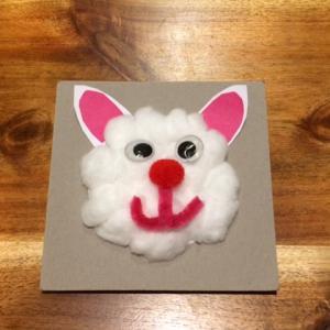 子供の工作|紙皿と綿を使ってもこもこウサギを作ってみよう