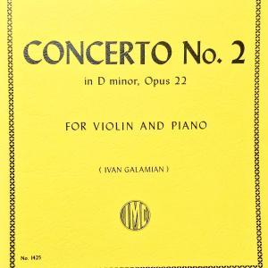 ヴィエニアフスキ ヴァイオリン コンチェルト 第2番   インターナショナル版