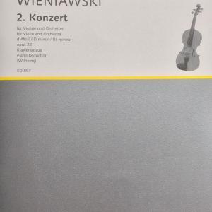ヴィエニアフスキ ヴァイオリン コンチェルト 第2番 ショット版