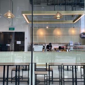 6oz Espresso Barのアイスラテ