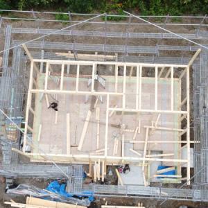 【着工22〜24日】土台敷き、1階床作り、建方(1階)