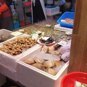 街市で貝を買い占めて来た&ブルーが止まらない