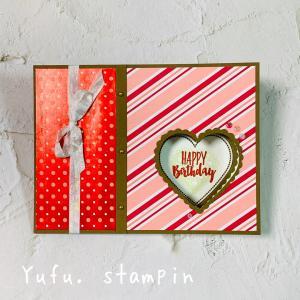 バレンタインには早いけど…誕生日カードとして作ってみました♡