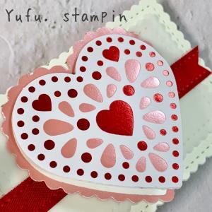 メッセージはちょこっとが嬉しい♡バレンタインの白いミニカードCard No.35-37