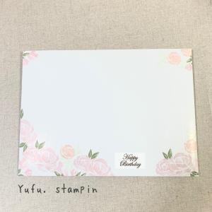 おすすめしたいお花モチーフのスタンプセット♡自由な気持ちで発送スタンピン!Card No.42