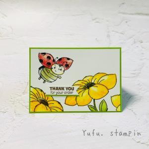 【最終日】セラブレーション&<プレゼント>てんとう虫のスタンプセット