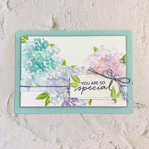 【動画】紫陽花の公園に行ったら、またカードを作りたくなりました。