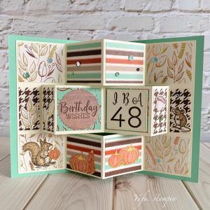 友人への誕生日カード♡IBA48☆取り外しOKなバレッタ付き( ´艸`)